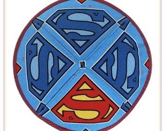 Superman kippah yarmulke yamaka kippa.
