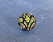 Dichroic Tie Tack, Golden Orange Tie Tack, Necktie Tack, Mens Jewelry - Jamison - 4 -3