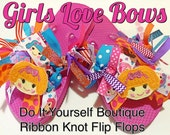 INSTANT DOWNLOAD Make custom boutique ribbon flip flops diy instructions for beginners pdf tutorial step by step