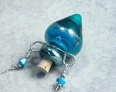 Mermaid --- Lampwork Poison Bottle Necklace