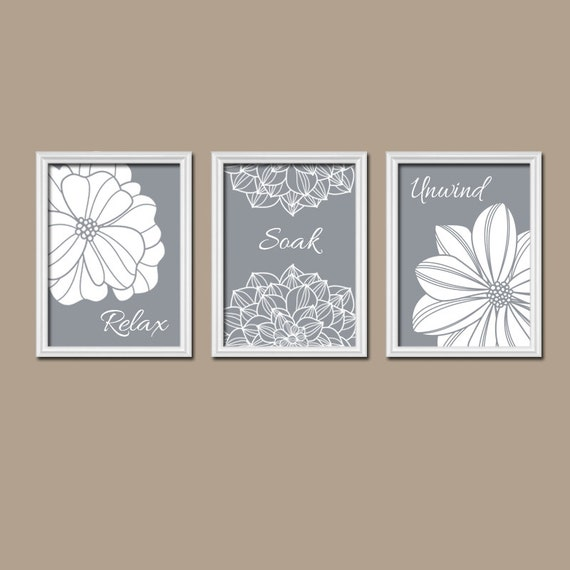 gray bathroom wall art canvas or prints bathroom by trmdesign. Black Bedroom Furniture Sets. Home Design Ideas
