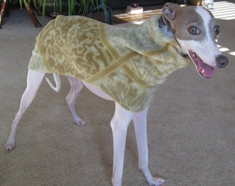 SMALL Italian Greyhound Dog Coat Digital Print at Home Sewing Pattern for use with Polar Fleece