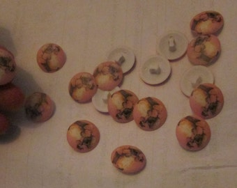 Mrs Tiggy Winkle from Beatrix Potter hedgehog buttons set of 10