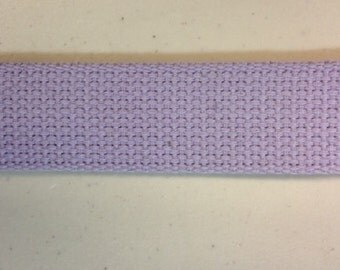"1.25"" Lilac Heavyweight Cotton Webbing For Handbags Key Fobs Closeout Price"