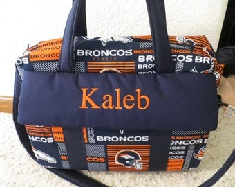 Denver Bronco's Diaper Bag with changing pad by EMIJANE