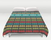 Batman Duvet Cover, Customized duvet cover, nursery bedding, twin size, king size duvet cover, personalized duvet cover