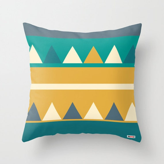 Modern Accent Pillow Covers : Geometric Decorative throw pillow cover Modern accent