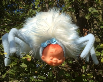 Spider Baby Plush Toy...White and Blue