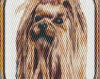 Yorkie, Yorkshire Terrier Tapestry Beaded Pattern