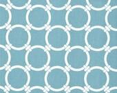 Premier Prints - Linked Regatta (dusty blue) & White - 1/2 yard