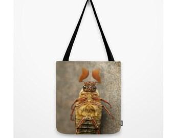 June Beetle Bag Natural History Print Stripes Forest Dweller Woodland Print Male June Bug Entomology