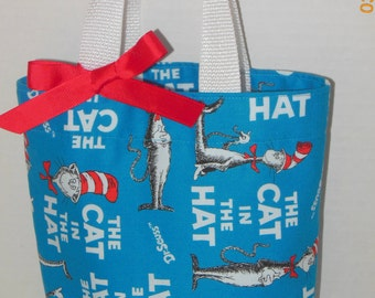 Cat In The Hat Tote/Gift Bag with or without bow