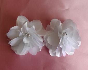 Bridal Hair Wedding Hair Silk Flower Rhinestone Hair Clip Flower Headpiece Flower Girl Bridesmaid