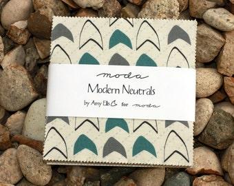SALE 5 inch charm pack MODERN NEUTRALS Moda Fabric by Amy Ellis