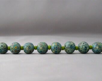 Kllimpt Style Green Beads