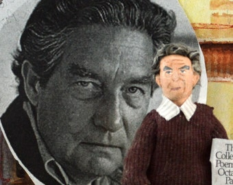 Octavio Paz Mexican Writer and Author Unique Doll Miniature