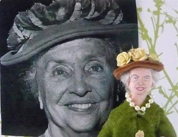 Helen Keller Doll Miniature Historical Women Art Collectible