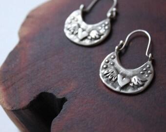 Te Amo hoop earrings
