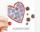 Funny Valentine - Galentines Day Card - Sorry Not Sorry