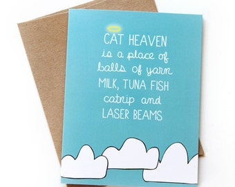 Pet Loss Card - Cat Loss Card - Sorry For Your Loss Card