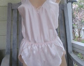 Vintage Teddie Teddy Pink St. Michael NWT Simple Silky Shimmery Satin Tall Medium Lg touch of Lace
