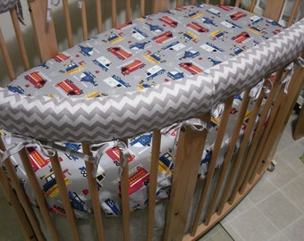 Stokke Crib Rail Covers .. Set of 4 ... Custom Made with Client's Fabric -Labor Only... This is not a pre-made item