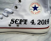 Hand Painted Wedding Date Shoes