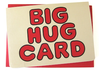 Big Hug Card // Blank // Vintage Inspired