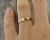 Single Rose Gold-fill Thin Band | Stacking Ring | Mid Finger Ring
