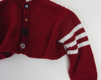 Kid's Hand knit Upcycled Racing sweater