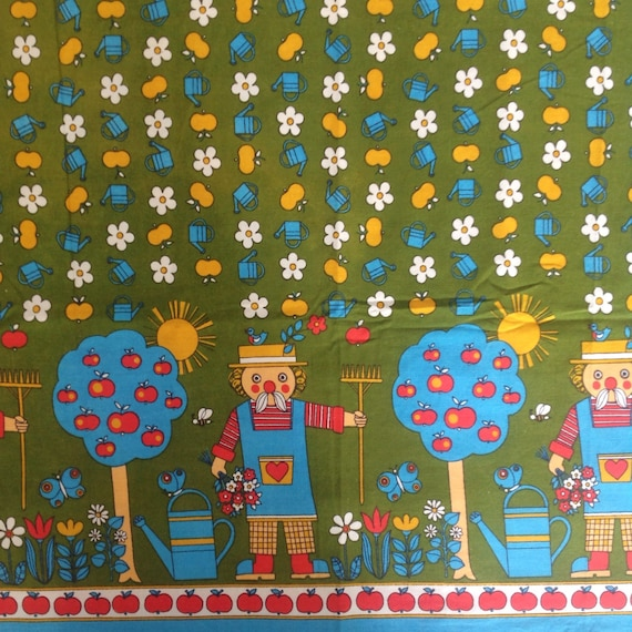 Seventies vintage childrens fabric 130x85 cm for Vintage childrens fabric