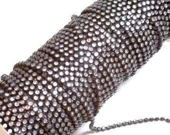 Clear Rhinestone Trim, Black Plastic Rhinestone Rope Sewing Trim 3/16 inch wide x 3 yards