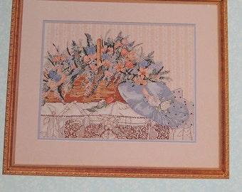 English Bouquet Cross Stitch Pattern