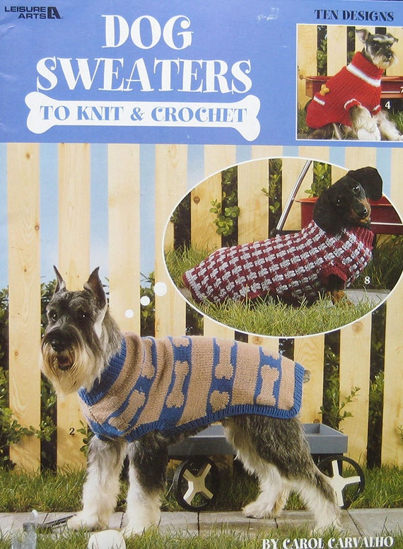 Knitting Pattern Books For Dogs : Dogs Sweaters To Knit Crochet Pattern Book Leisure Arts