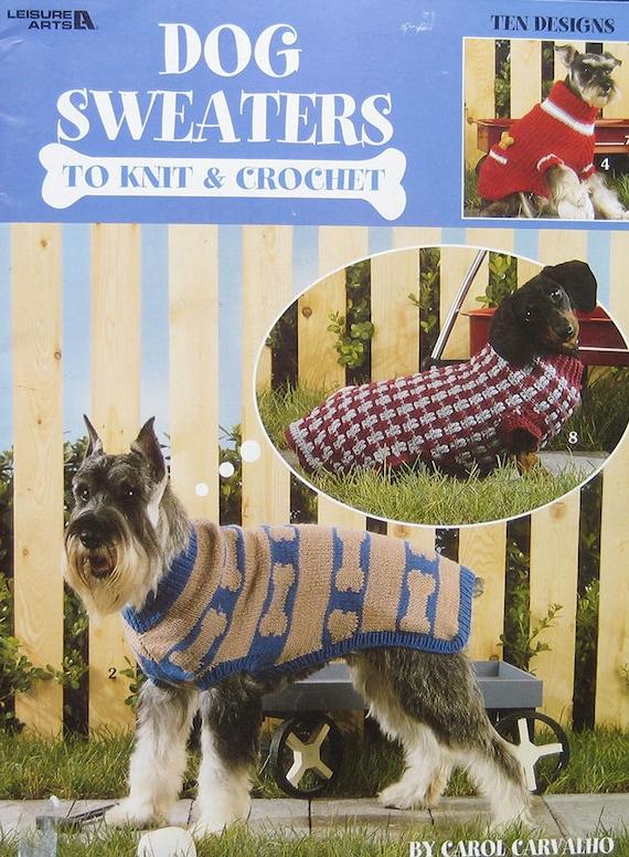 Dogs Sweaters To Knit Crochet Pattern Book Leisure Arts