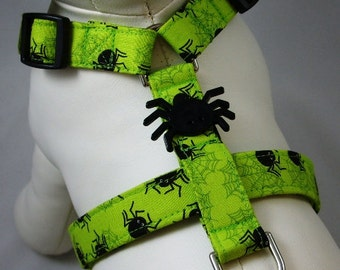Dog Harness - Spooky Spiders