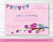 Pink Birthday Invitation ...