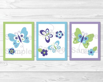 Beautiful Butterfly Nursery Wall Art PRINTABLE Instant Download