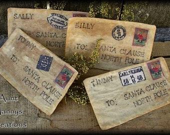 Primitive Vintage Style Letters to Santa Pattern