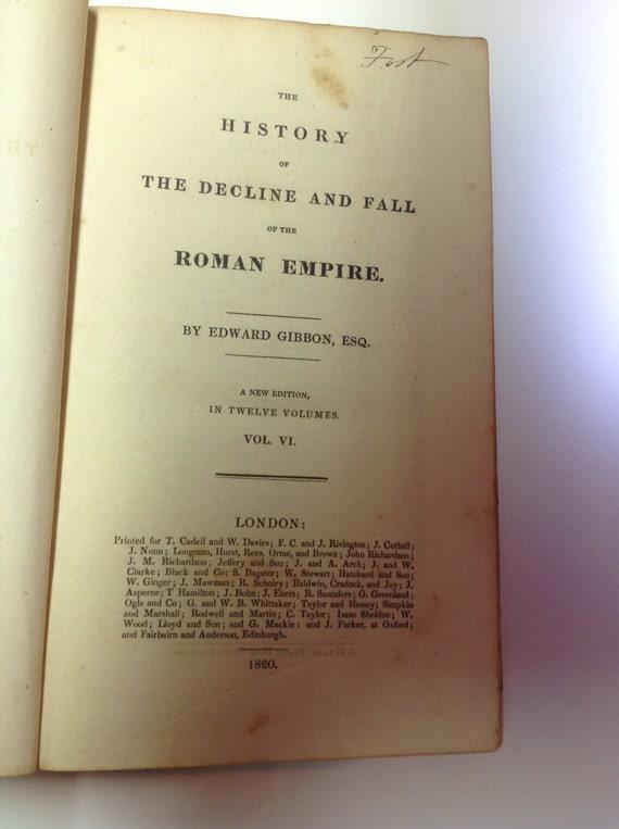 1820 Gibbon's Rome Leather bound Book Edward Gibbon Esq