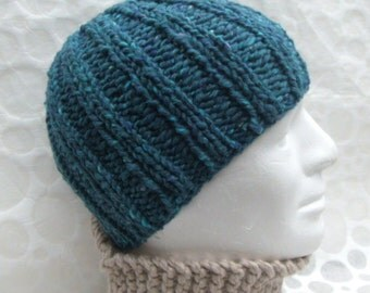 Knitting Pattern For Man s Hat : Romeoromeo Etsy