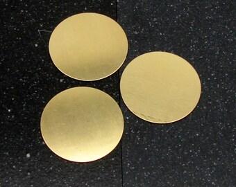 """1-1/2"""" Brass Disc 24 Gauge  Pack of 3"""