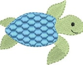 Mini Sea Turtle machine embroidery designs 3 sizes