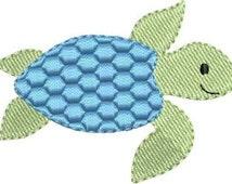 Mini Sea Turtle machine embroidery designs 3 sizes