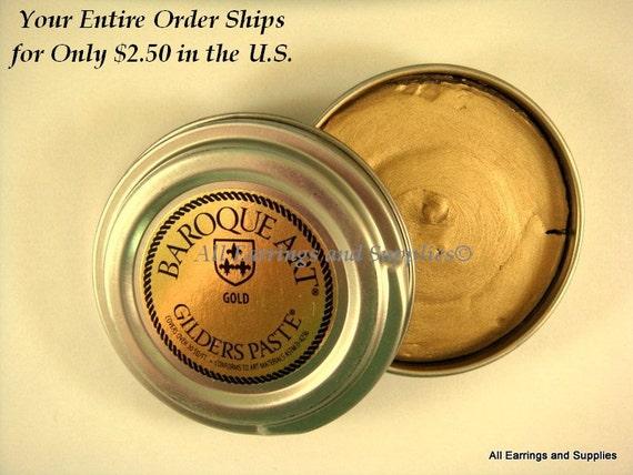 Gilders Paste Gold Metallic Gilders Wax Paste Baroque Art - 1 pc - 5736