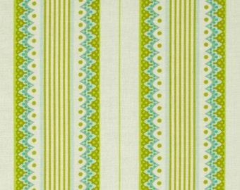 Heather Bailey Lottie Da Carousel Stripe Olive Fabric, 1 Yard