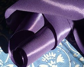 "5 Yards of Rayon Taffeta Wired Ribbon in Amethyst  (1 1/2"")"