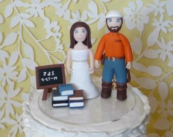 Custom Wedding Cake Topper - bride and groom gamer sample