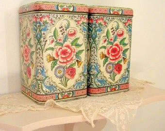 ONE Daher Holland Vintage Canister Floral Chic