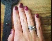 Twig Stack Ring Set in Bronze